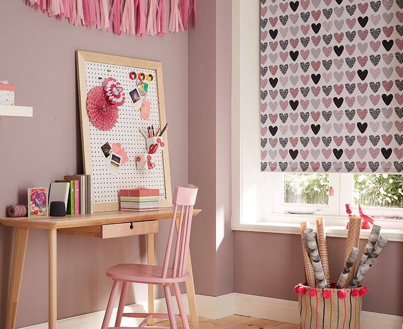 pink bedroom with pink chair