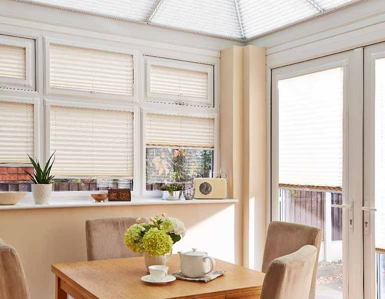 cream perfect fit pleated blinds